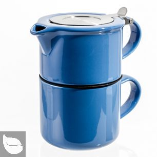 FORLIFE® Tea for One with Infuser 14 oz Blue