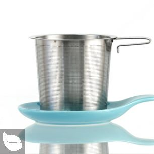 Hook Handle Tea Infuser and Dish Set Turquoise