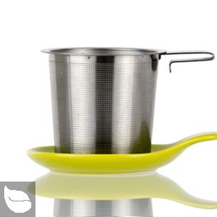 Hook Handle Tea Infuser and Dish Set Lime